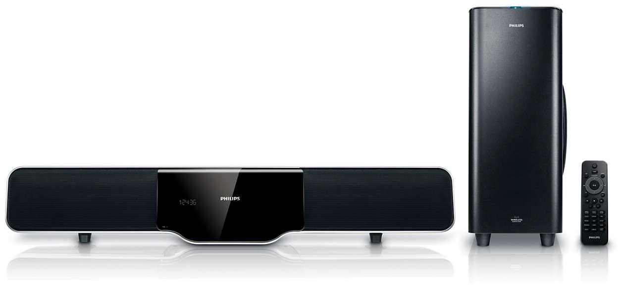 soundbar home cinema hsb4383 12 philips. Black Bedroom Furniture Sets. Home Design Ideas