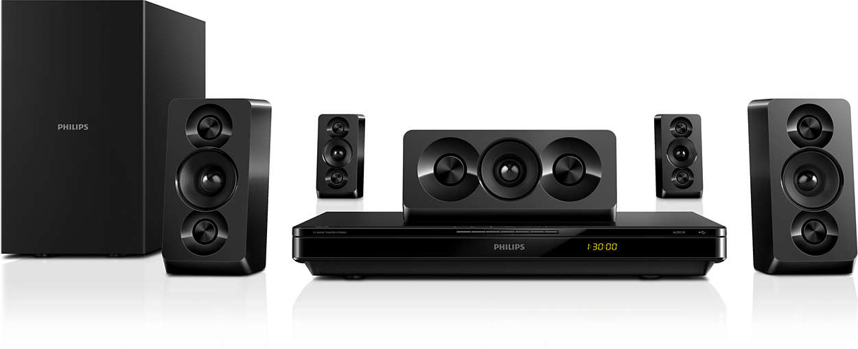 Powerful cinematic surround sound with deep bass