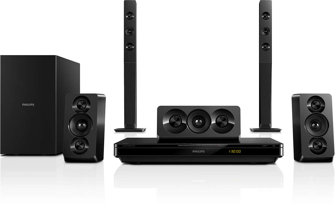 Sonido Surround cinemático con graves profundos