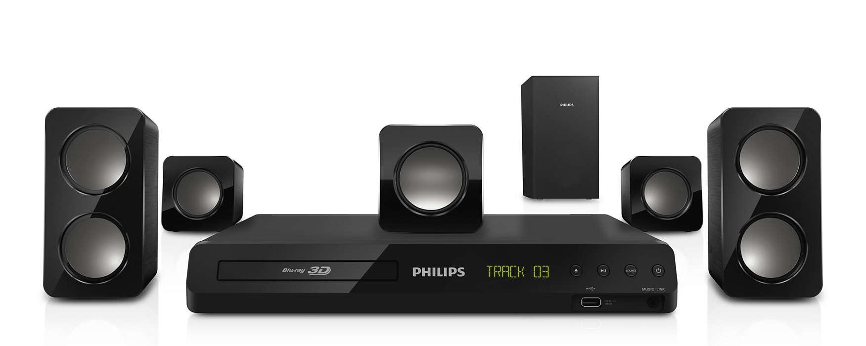 Leistungsstarker Surround Sound von kompakten Lautsprechern