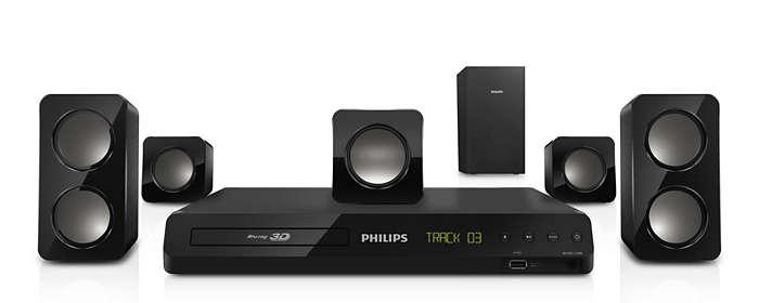 Sonido Surround Sound potente desde altavoces compactos