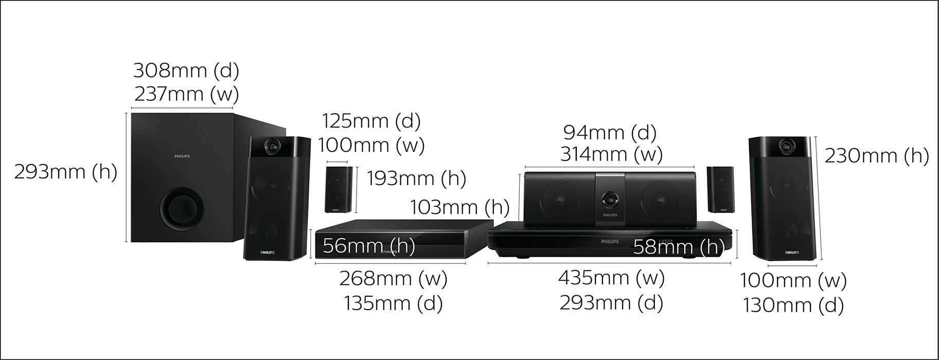 5.1-hemmabiosystem med 3D-Blu-ray HTB5520G/12 | Philips : koppla hemmabio : Inredning