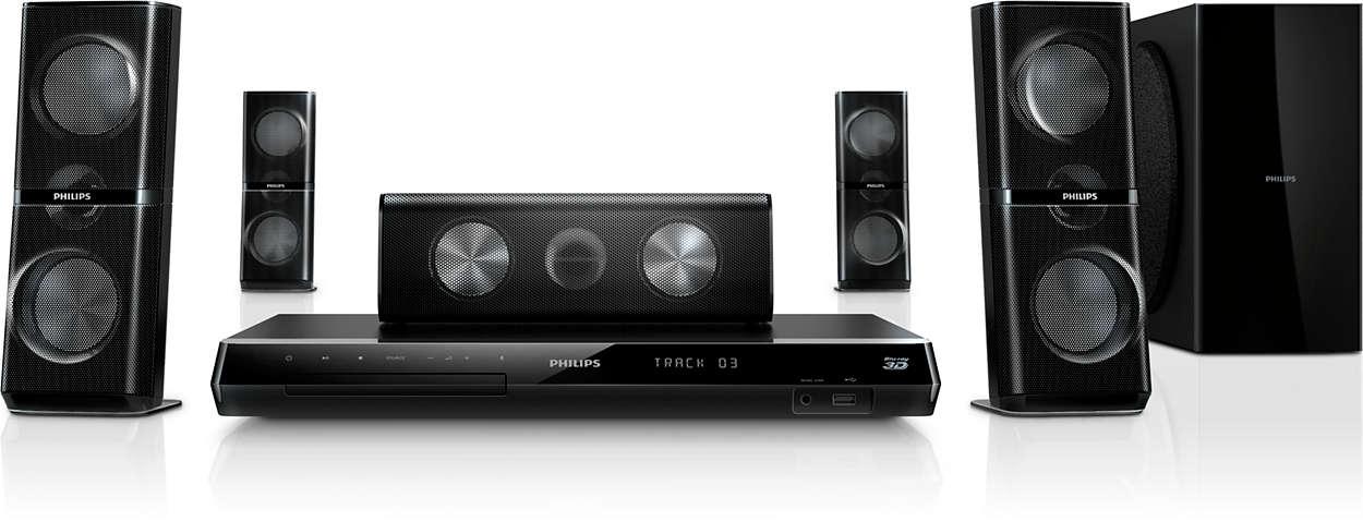 Užijte si skvělé domácí kino vybavené reproduktory s3D zvukem