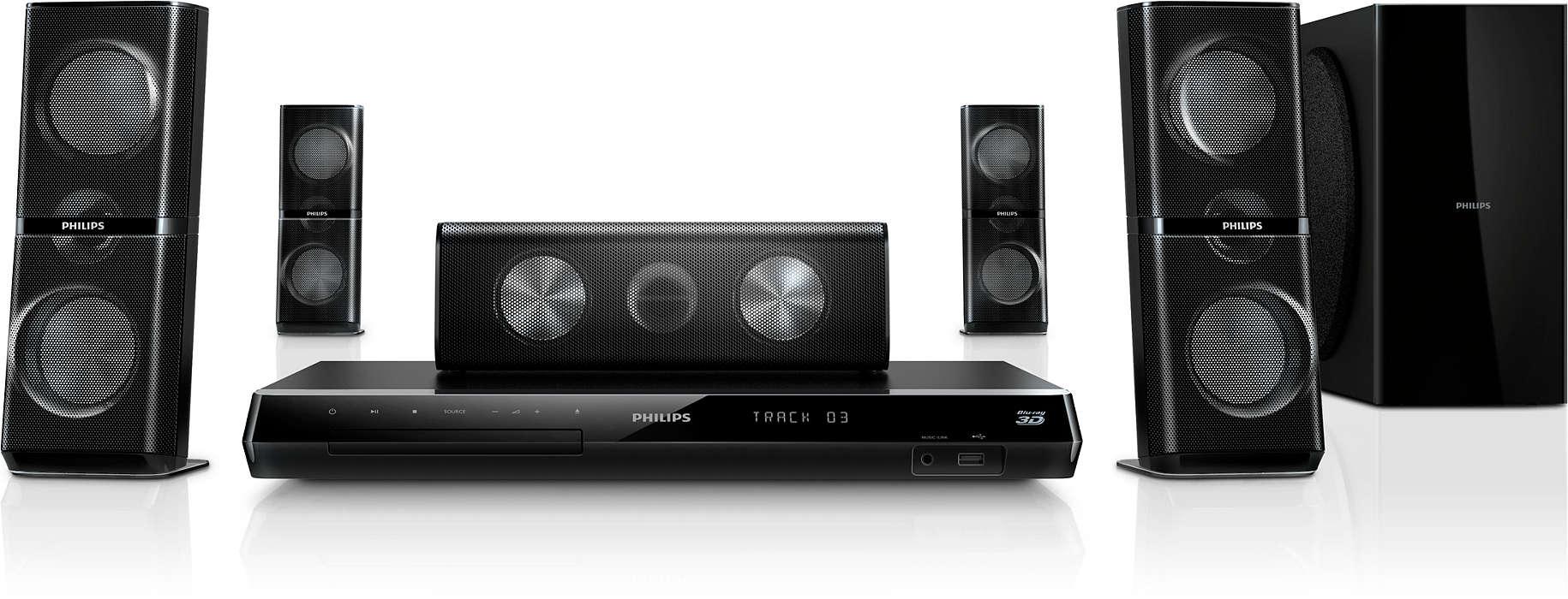 Uživajte u doživljaju kina kod kuće uz 3-smjernim kutnim zvuč.