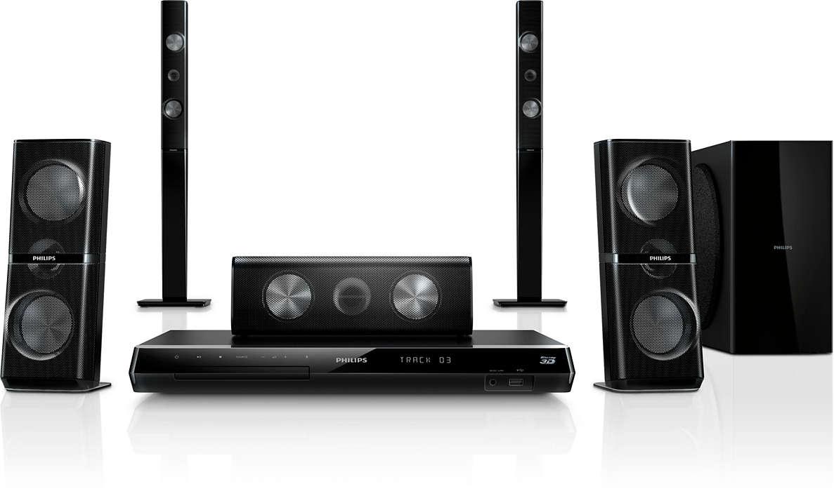 Få kraftfull hemmabio med 3D-vinklade högtalare