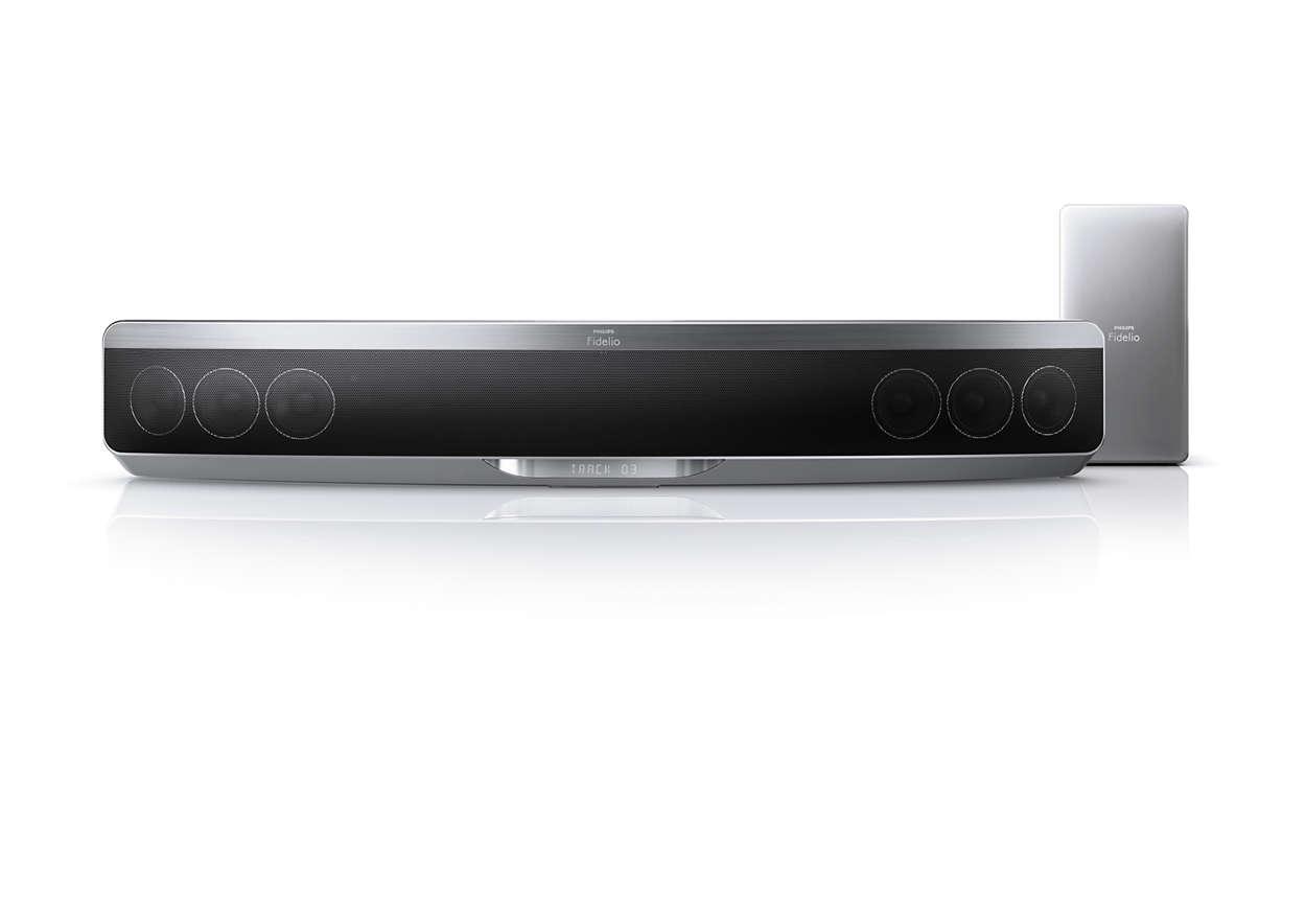 soundbar home entertainment system htb9150 12 fidelio. Black Bedroom Furniture Sets. Home Design Ideas
