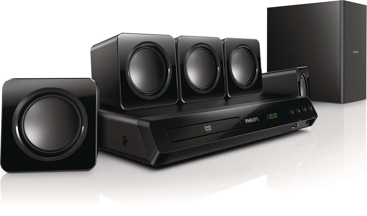 51 Dvd Home Theater Htd3509 94 Philips Speakers Mw Entertainment Wiring 300w Powerful Cinematic Surround Sound