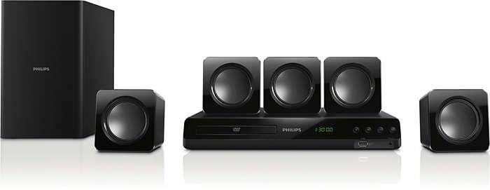 Potente sonido Surround desde altavoces compactos