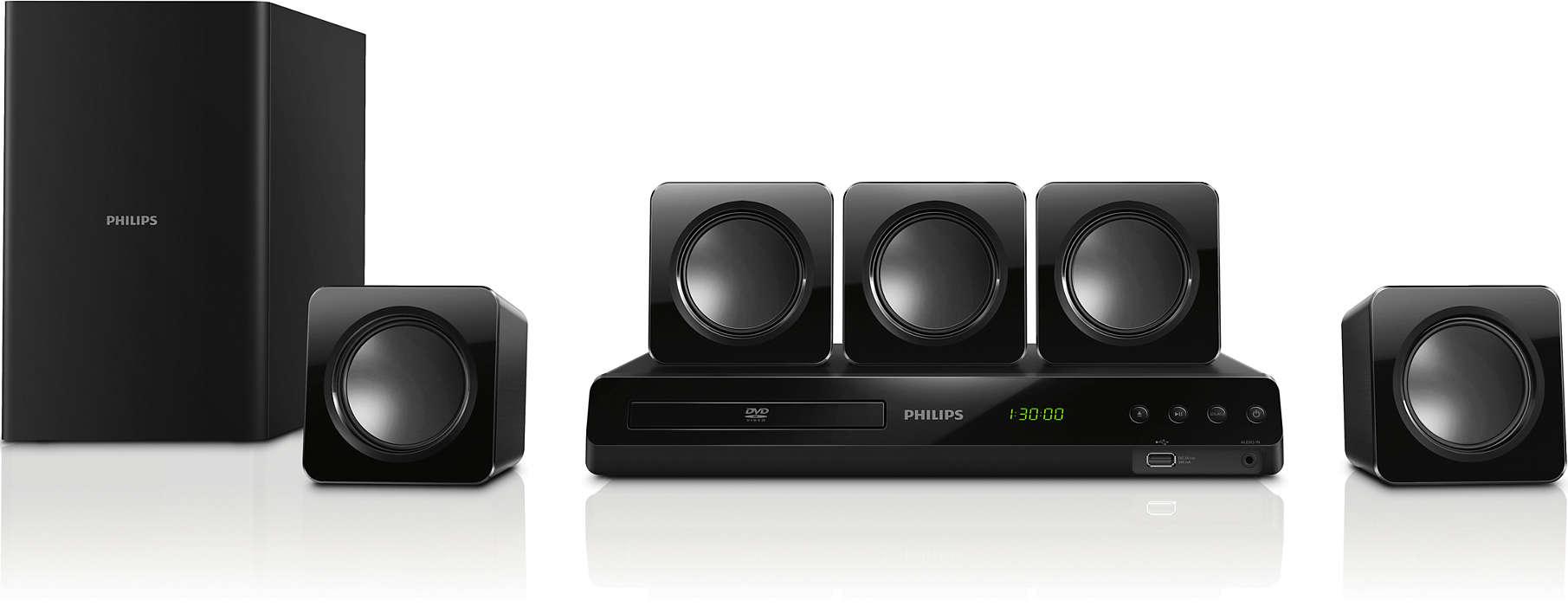Erőteljes surround hangzás a kompakt hangsugárzókból
