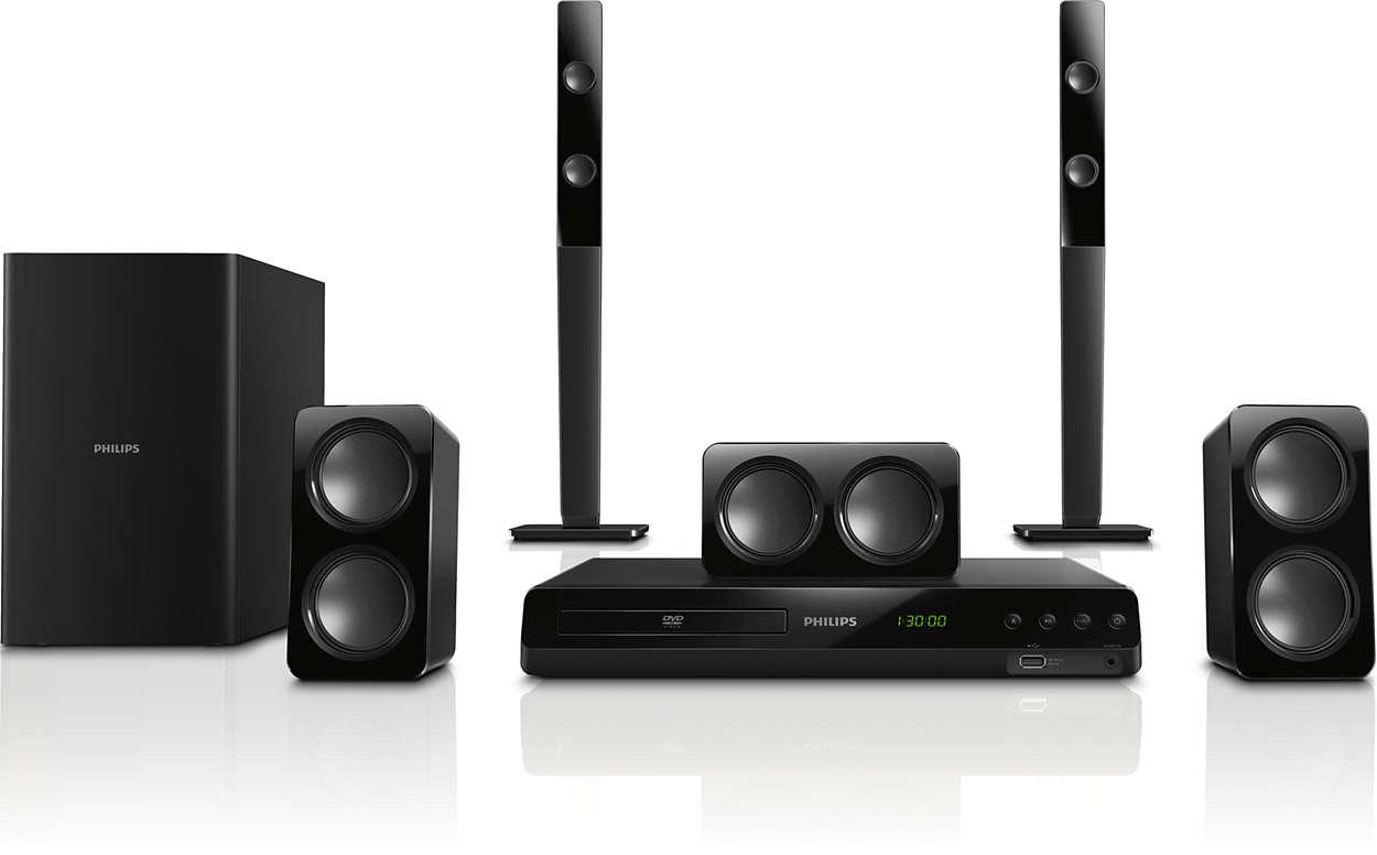 Kraftig surroundlyd fra kompakte høyttalere