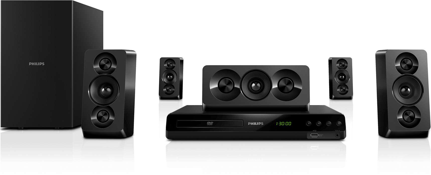 Kinowy dźwięk przestrzenny o głębokim brzmieniu