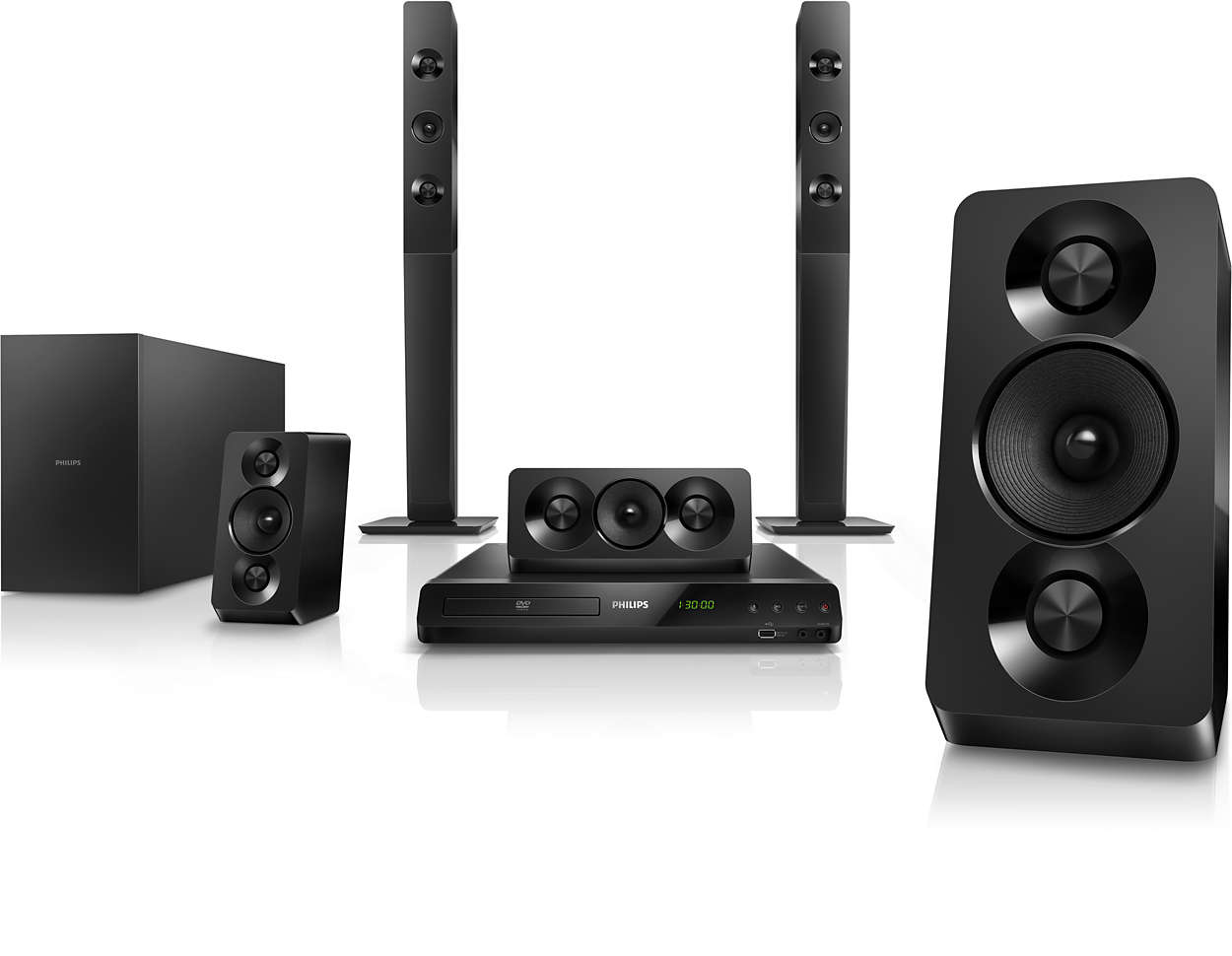 51 Dvd Home Theater Htd5550 94 Philips Wiring For Speakers In Theaters Powerful Cinematic Surround Sound With Deep