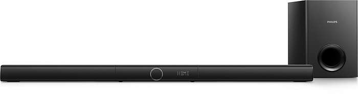 Unmatched voice clarity from 3.1 channels of sound