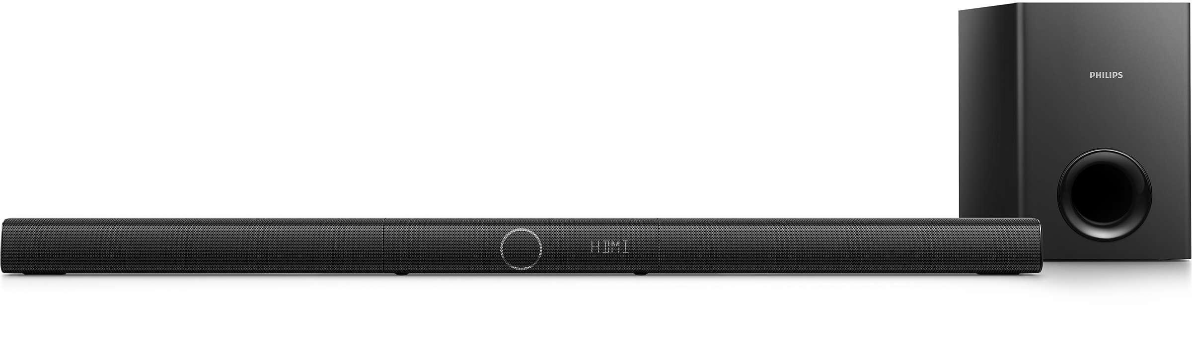 Bluetooth akışı ile 3.1 Ch'den