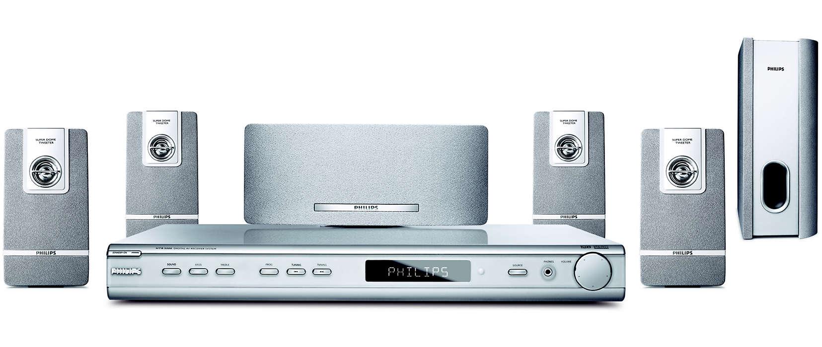 Digital AV receiver system HTR5000/01 | Philips