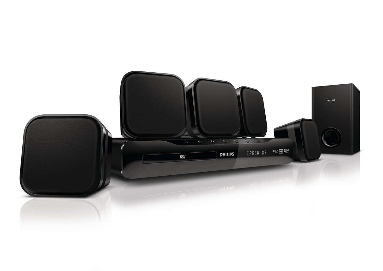 immersive sound home cin ma hts2500 12 philips. Black Bedroom Furniture Sets. Home Design Ideas