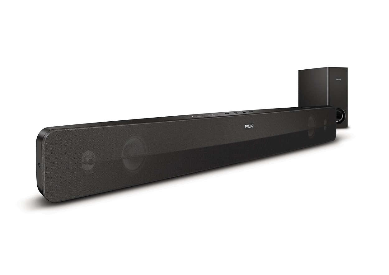 Confira um óptimo som surround ao seu televisor