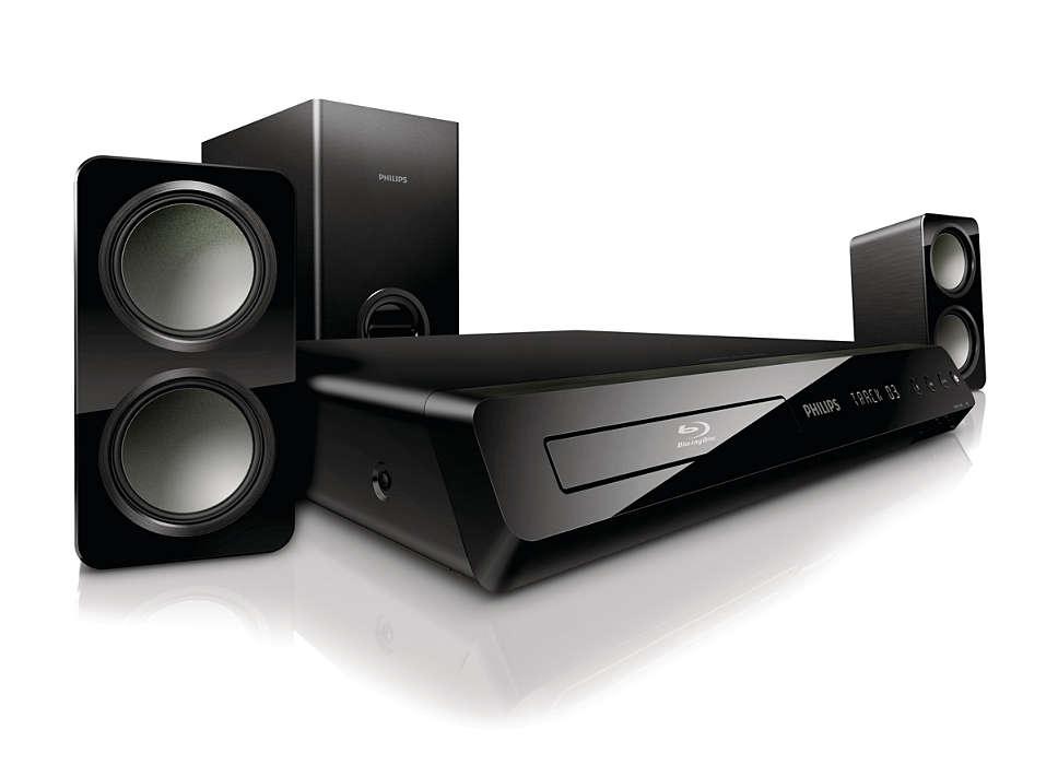 Мощен съраунд звук от компактни високоговорители