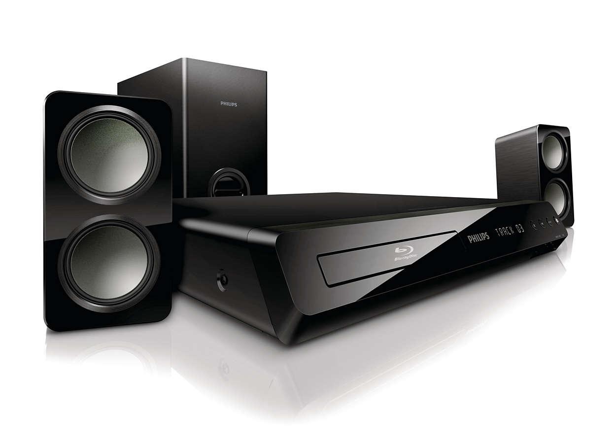 Potente sonido Surround de los altavoces compactos