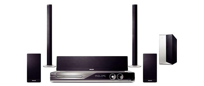 High definition video and wireless surround sound