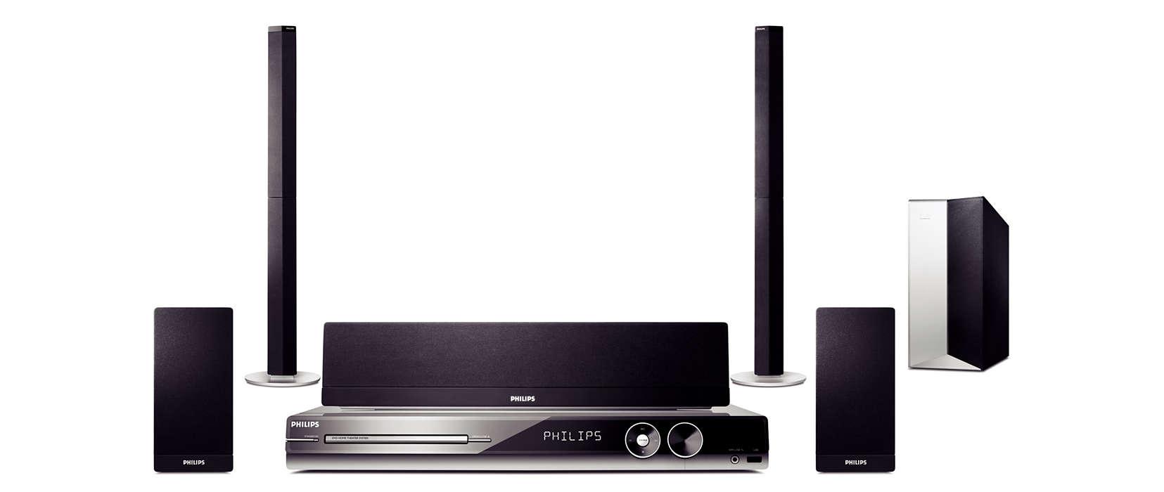 Video ad alta definizione e suono surround wireless