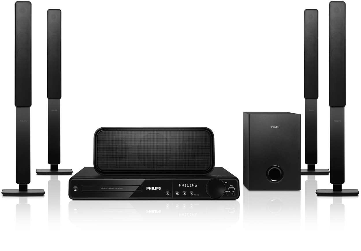 Audio surround incredibile con bassi potenti e profondi