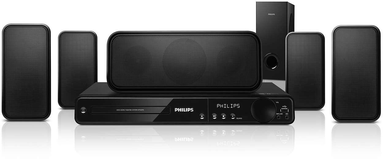 sistema de home theater 5 1 hts3375 55 philips. Black Bedroom Furniture Sets. Home Design Ideas