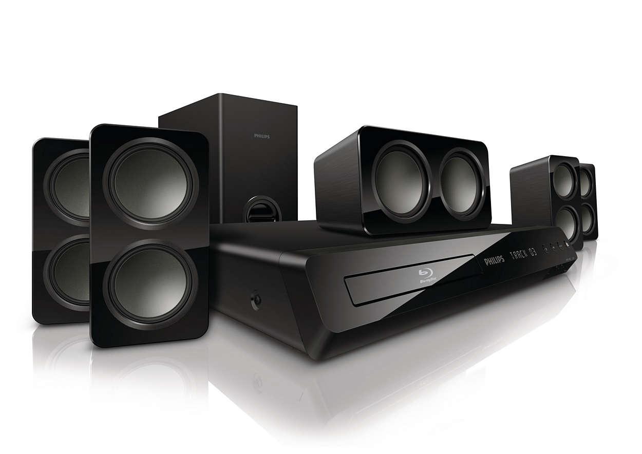 Galingas erdvinis garsas per kompaktiškus garsiakalbius