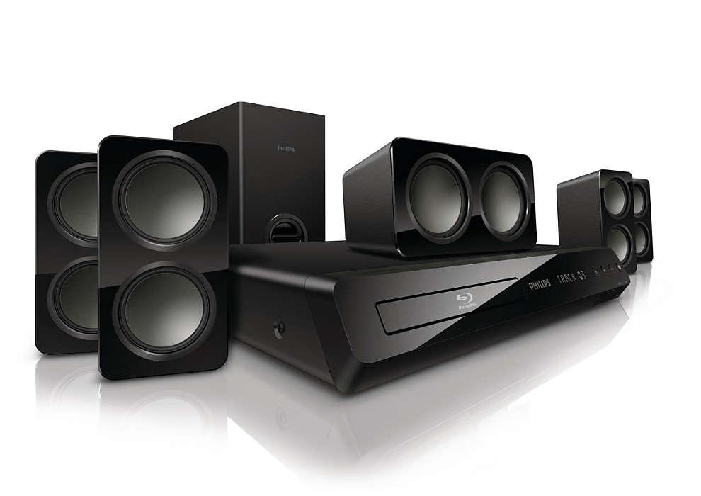 Kraftfullt surroundljud från kompakta högtalare