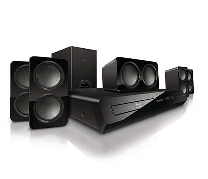 Som surround potente emitido por caixas acústicas compactas
