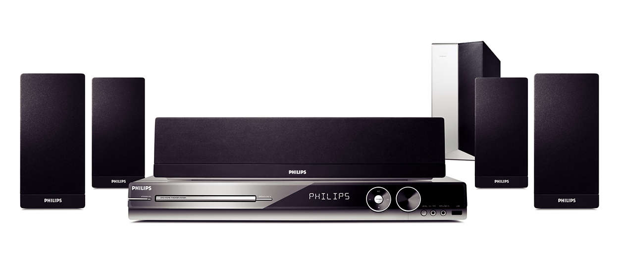 dvd home theater system hts3544 37 philips. Black Bedroom Furniture Sets. Home Design Ideas
