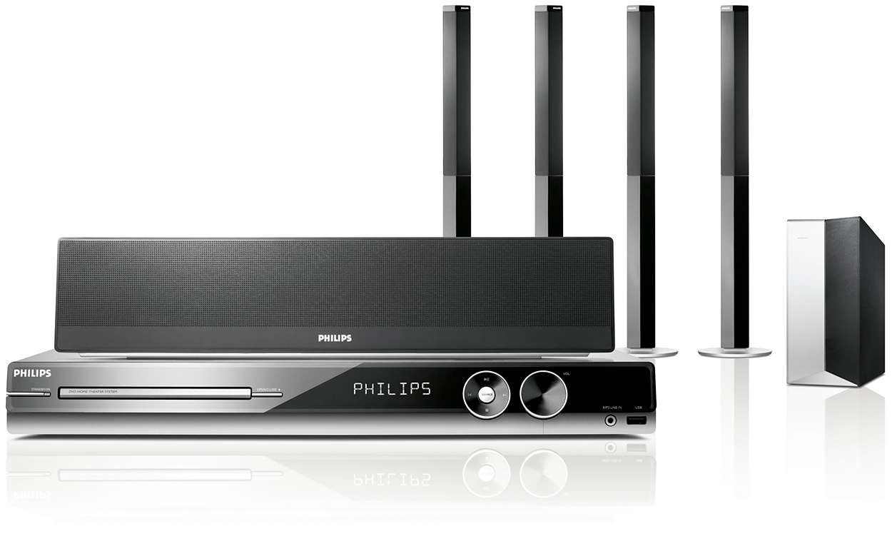 dvd home theater system hts3548 98 philips. Black Bedroom Furniture Sets. Home Design Ideas