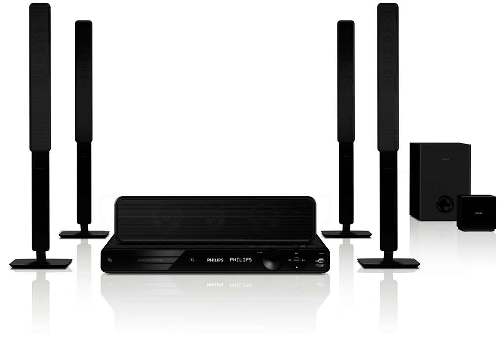 Spectacular surround sound with deep powerful bass