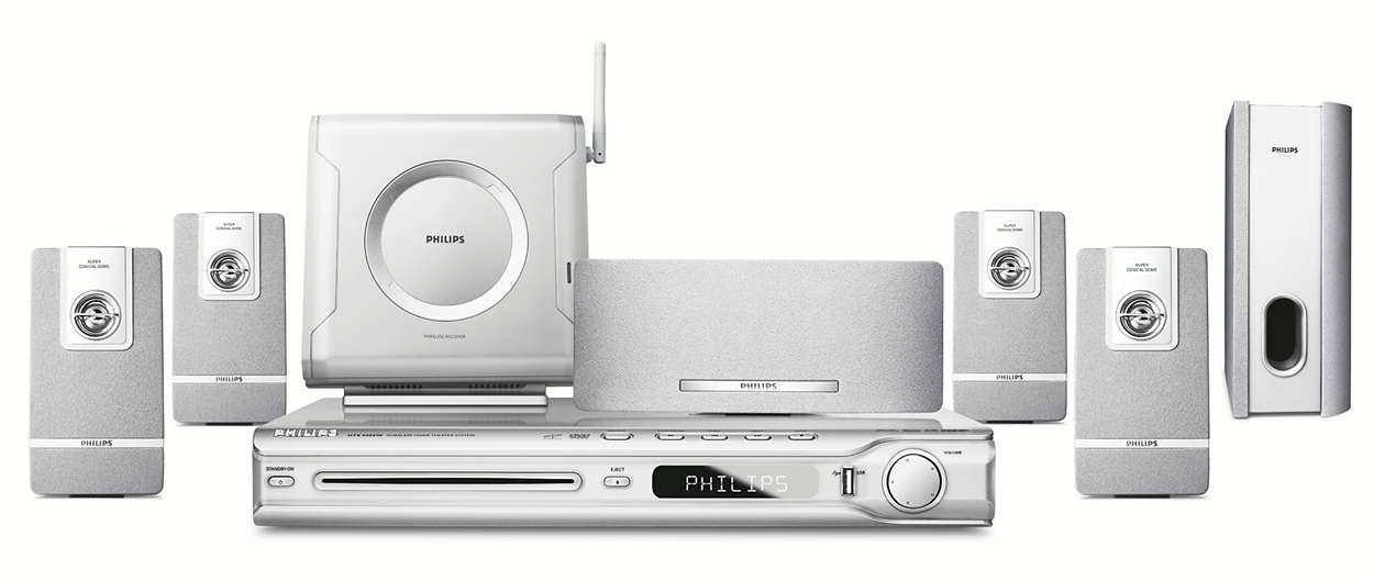 Wireless Home Theatre System HTS5000W/12 | Philips