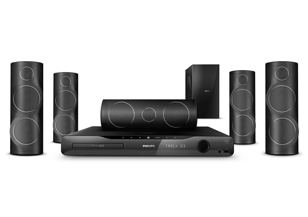 Enjoy powerful home cinema with 3D Angled Speakers