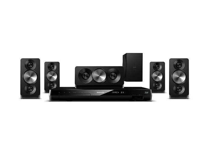 Dźwięk przestrzenny o dużej mocy basów i kinowej jakości