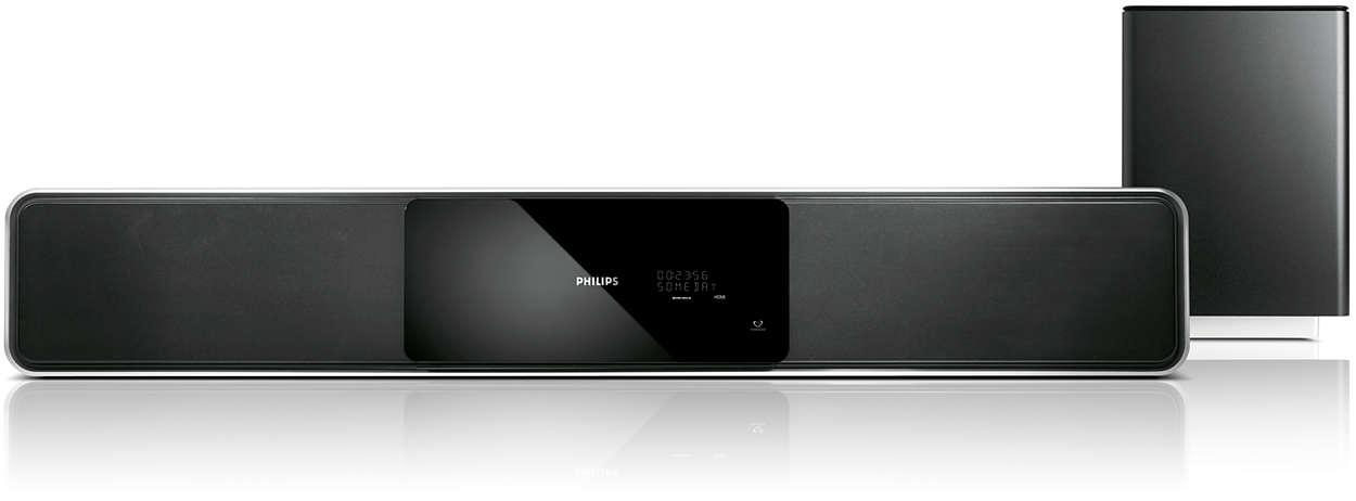 Sistema home theater 5.1 a componente unico