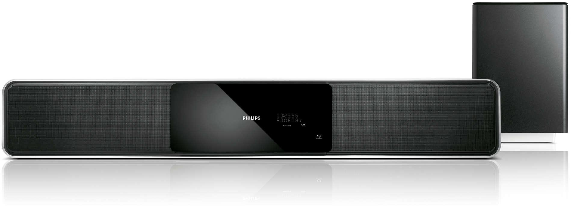 Sistema de cinema em casa 5.1 a partir de uma barra