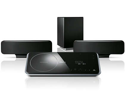 Complete home theater from fewer speakers