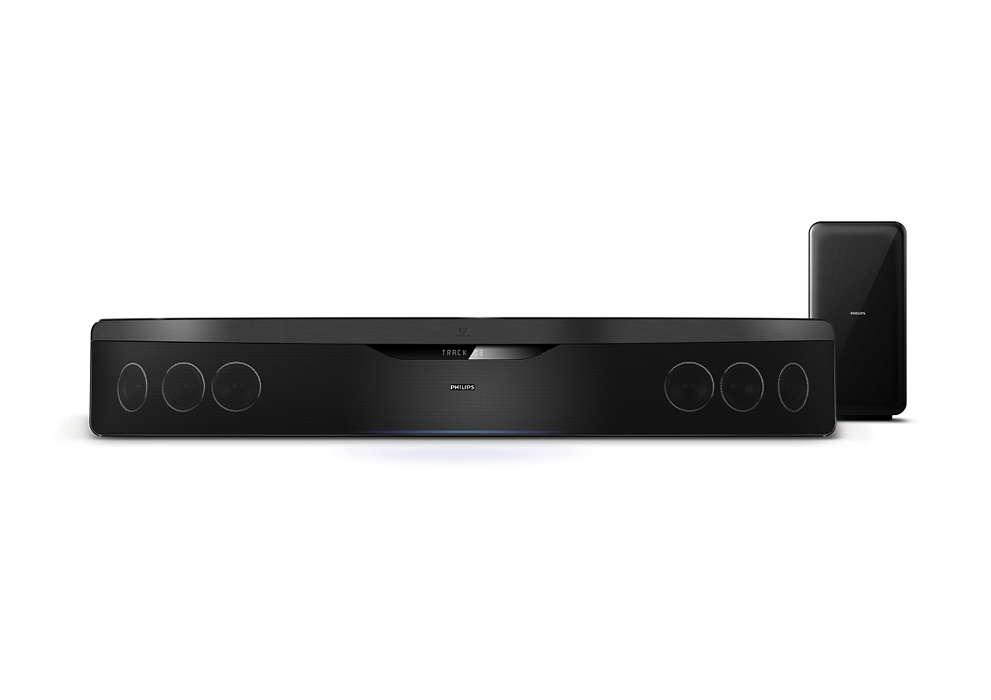 Audio surround superiore senza ingombro