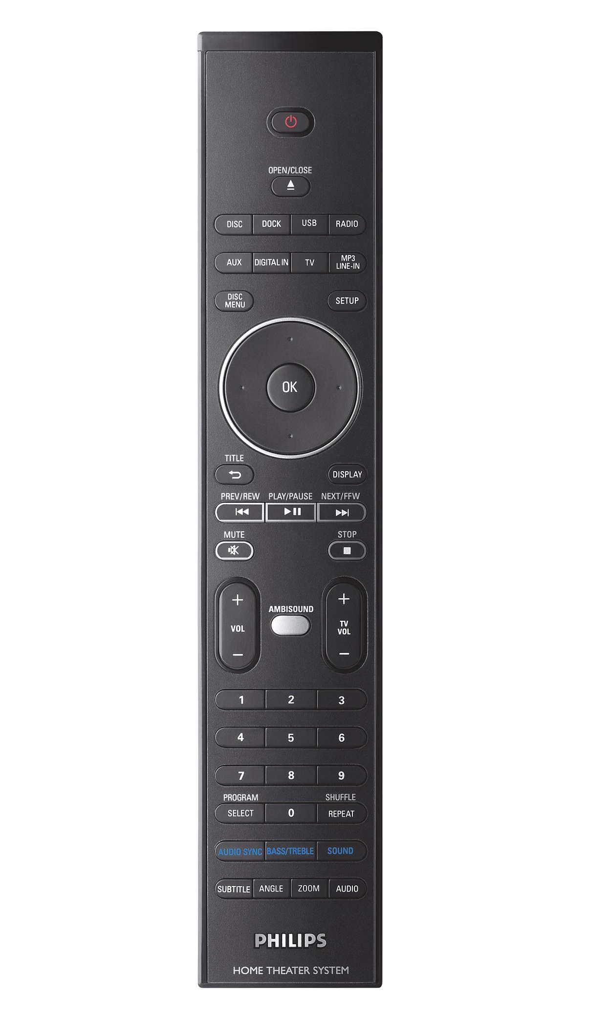 SoundBar DVD home theater HTS8100/98 | Philips