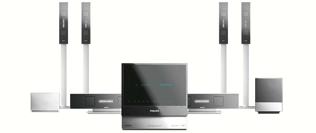 Dvd Sacd Home Theatre System Hts9800w 12 Philips