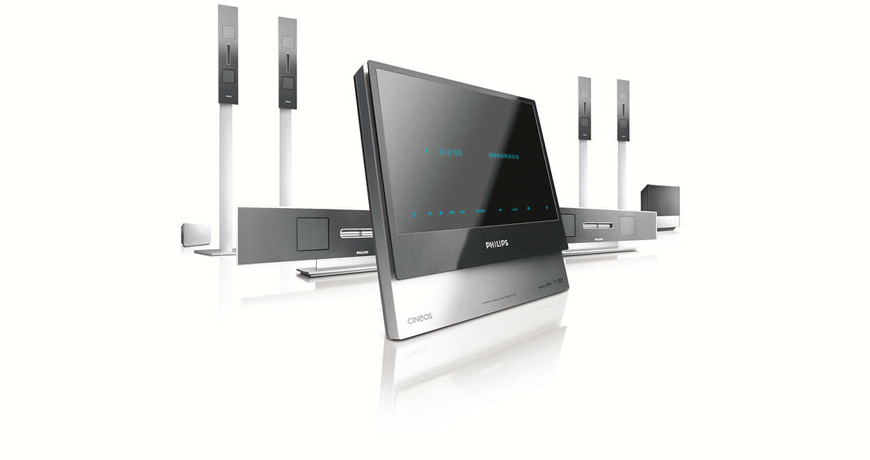 DVD/SACD home theatre system HTS9800W/12 | Philips