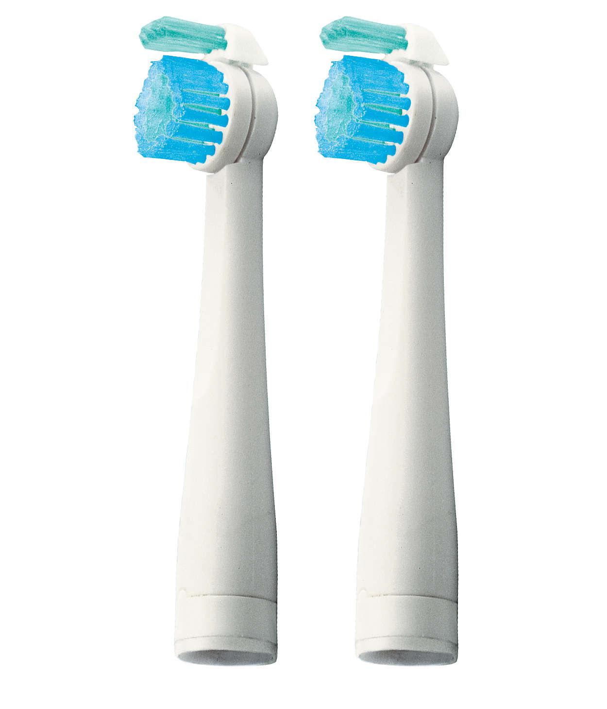 Ekstra børster med dobbel rengjøringsfunksjon