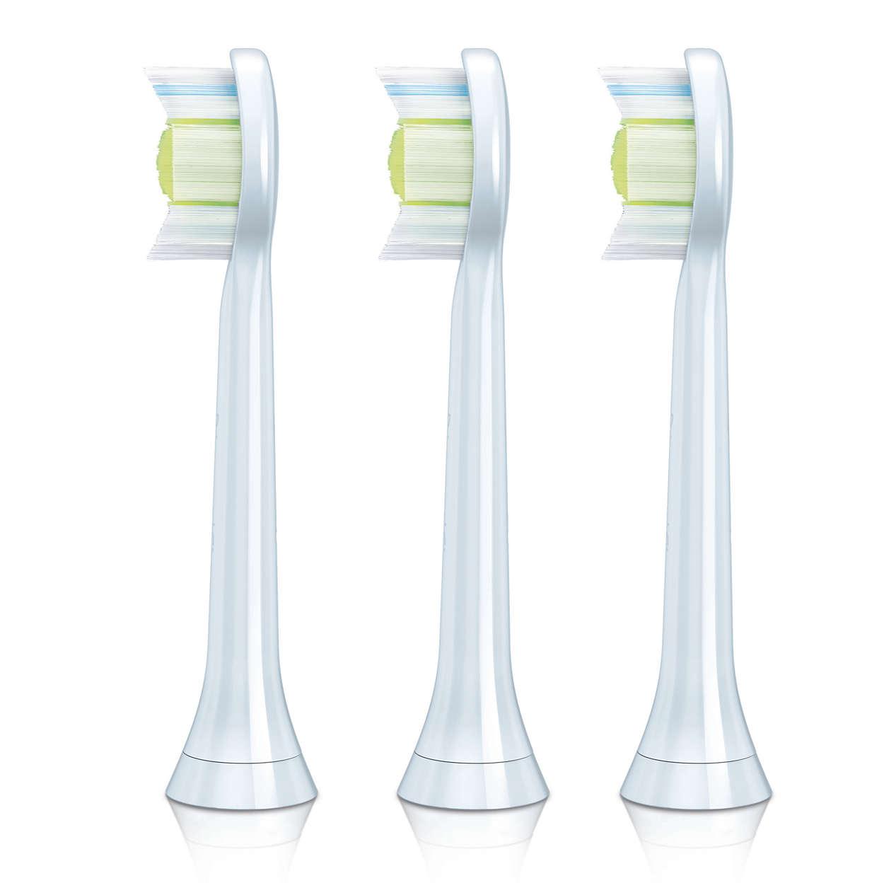 Nettoyage optimal et dents éclatantes.