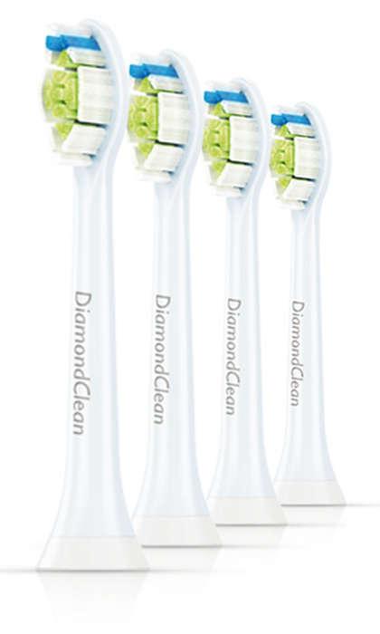 Erinomainen puhdistusteho.* Valkoisemmat hampaat.