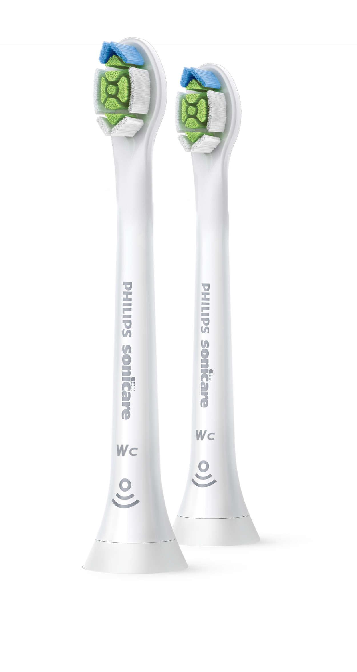 ひし形の毛先がステインを除去し、自然な白い歯へ