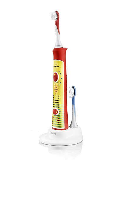 Поощрява самостоятелното здравословно миене на зъбите