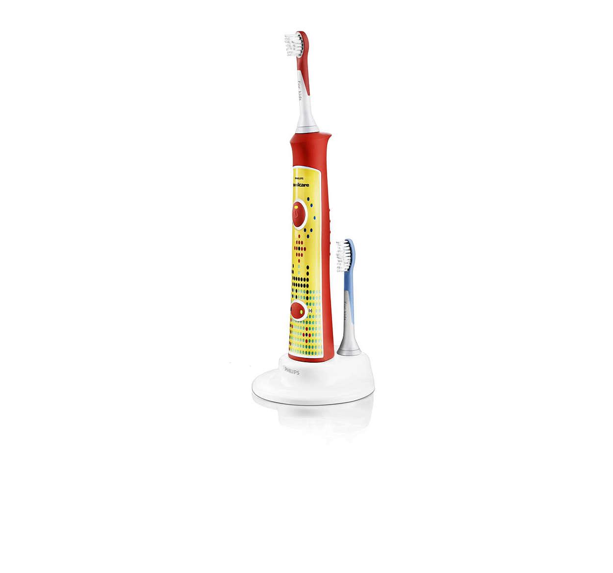 Opmuntrer til sund børstning på egen hånd
