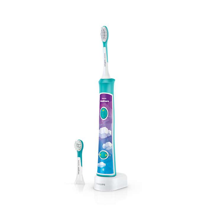 交互式声波震动,乐趣多,刷牙效果好